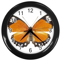 Butterfly Insect Black Wall Clock
