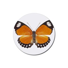 Butterfly Insect 4 Pack Rubber Drinks Coaster (Round)