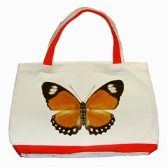 Butterfly Insect Red Tote Bag