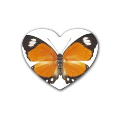 Butterfly Insect Rubber Drinks Coaster (heart)