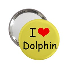 I Love Dolphin Handbag Mirror