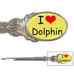 I Love Dolphin Paper Knife