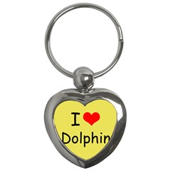 I Love Dolphin Key Chain (Heart)