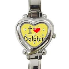I Love Dolphin Classic Elegant Ladies Watch (Heart)