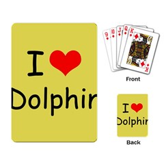 I Love Dolphin Standard Playing Cards