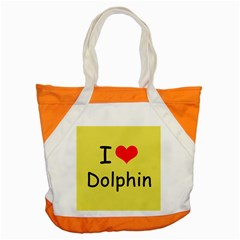 I Love Dolphin Snap Tote Bag