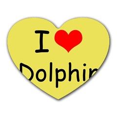 I Love Dolphin Mouse Pad (Heart)