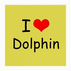 I Love Dolphin Twin-sided Large Glasses Cleaning Cloth