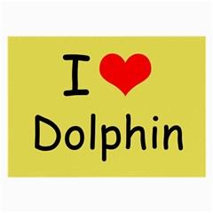 I Love Dolphin Single Sided Handkerchief