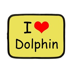 I Love Dolphin 7  Netbook Case