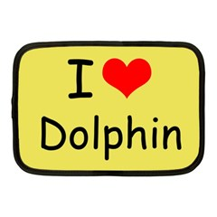 I Love Dolphin 10  Netbook Case