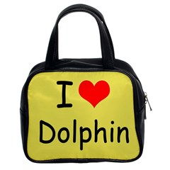 I Love Dolphin Twin-sided Satched Handbag