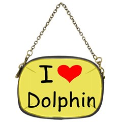 I Love Dolphin Single-sided Evening Purse