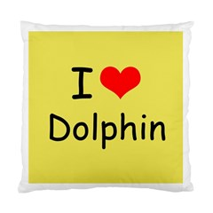 I Love Dolphin Single-sided Cushion Case