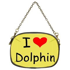 I Love Dolphin Twin-sided Evening Purse