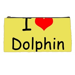 I Love Dolphin Pencil Case