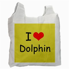I Love Dolphin Twin Sided Reusable Shopping Bag