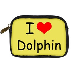 I Love Dolphin Compact Camera Case