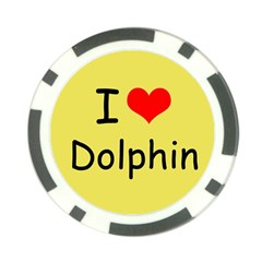 I Love Dolphin 10 Pack Poker Chip