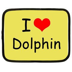 I Love Dolphin 13  Netbook Case