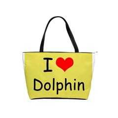 I Love Dolphin Large Shoulder Bag