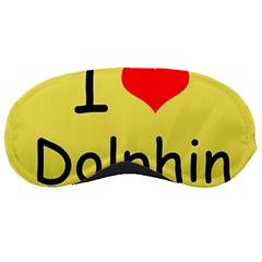 I Love Dolphin Sleep Eye Mask