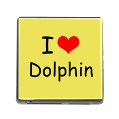 I Love Dolphin Card Reader With Storage (square)