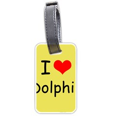 I Love Dolphin Twin Sided Luggage Tag