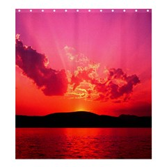 Sunset 66  Large Shower Curtain