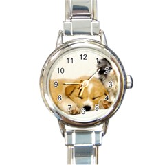 Dog2 Round Italian Charm Watch