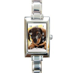 Dog3 Rectangular Italian Charm Watch