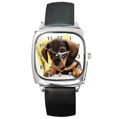 Dog3 Square Metal Watch