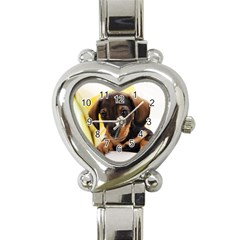 Dog3 Heart Italian Charm Watch