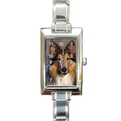 Dog4 Rectangular Italian Charm Watch