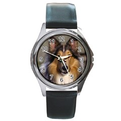 Dog4 Round Metal Watch