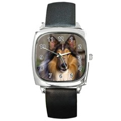 Dog4 Square Metal Watch