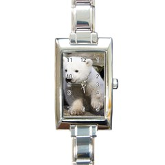 Bear3 Rectangular Italian Charm Watch