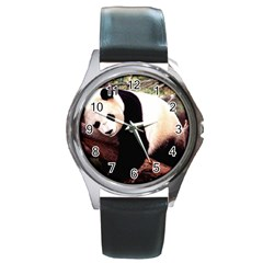 Panda1 Round Metal Watch