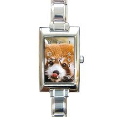 Red panda2 Rectangular Italian Charm Watch