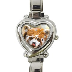 Red panda2 Heart Italian Charm Watch