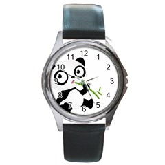 Panda3 Round Metal Watch