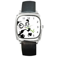 Panda3 Square Metal Watch