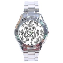 Pattern1 Stainless Steel Analogue Men's Watch