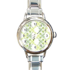Pattern2 Round Italian Charm Watch