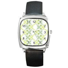 Pattern2 Square Metal Watch