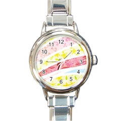 Pattern4 Round Italian Charm Watch