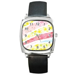 Pattern4 Square Metal Watch