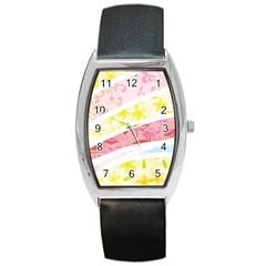 Pattern4 Barrel Style Metal Watch
