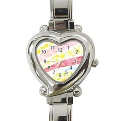 Pattern4 Heart Italian Charm Watch