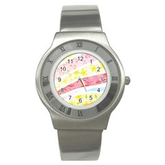 Pattern4 Stainless Steel Watch